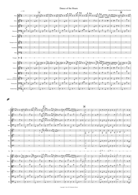 Dance of the Hours for School Orchestra