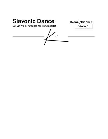 Dvorak: Slavonic Dance Op. 72, No. 8 - for String Quartet (Parts)