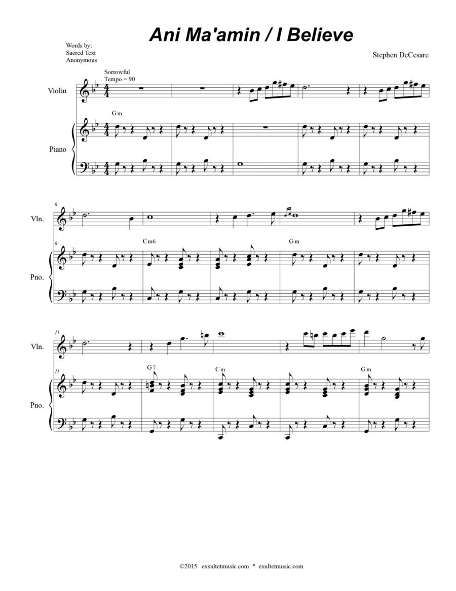 Ani Ma'amin / I Believe