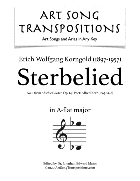 Sterbelied, Op. 14 no. 1 (A-flat major)