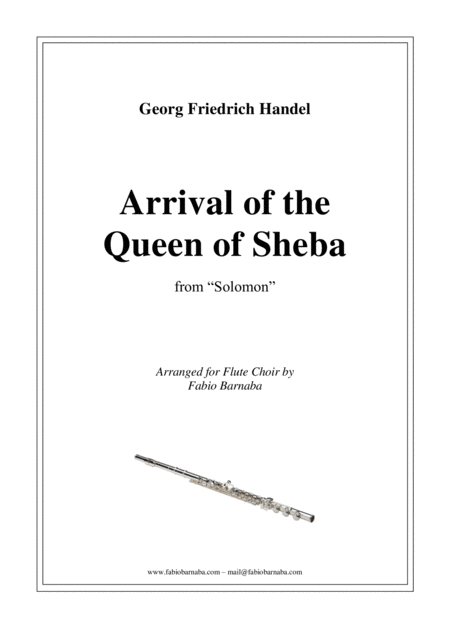 Arrival of the Queen of Sheba - for Flute Choir
