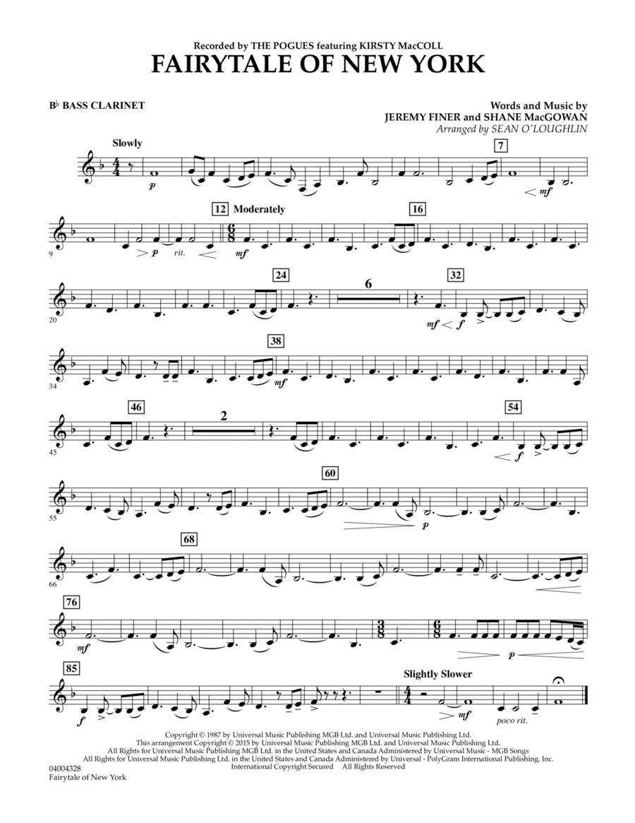 Fairytale of New York - Bb Bass Clarinet