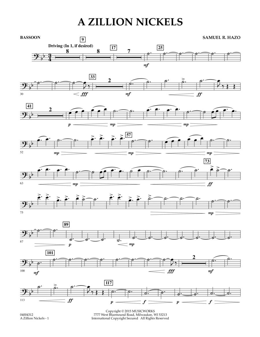 A Zillion Nickels - Bassoon