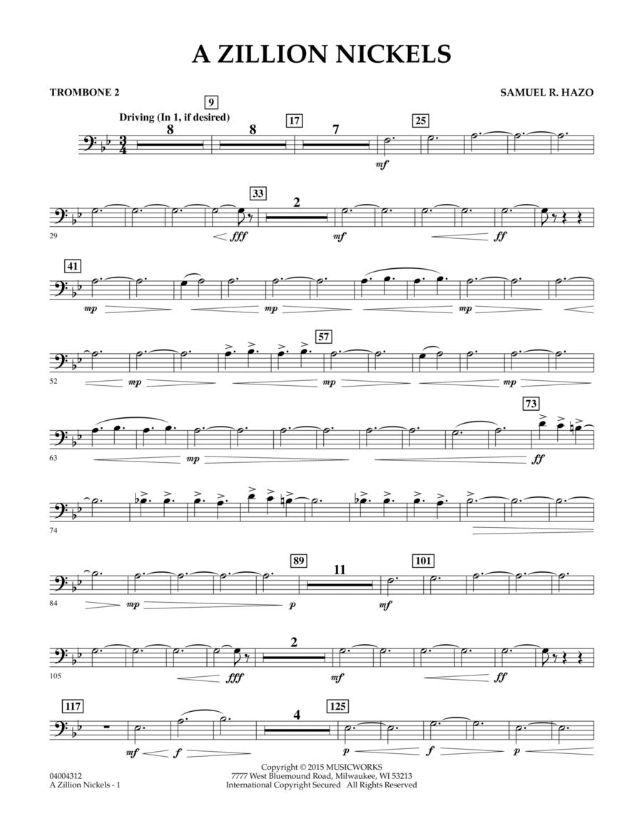 A Zillion Nickels - Trombone 2