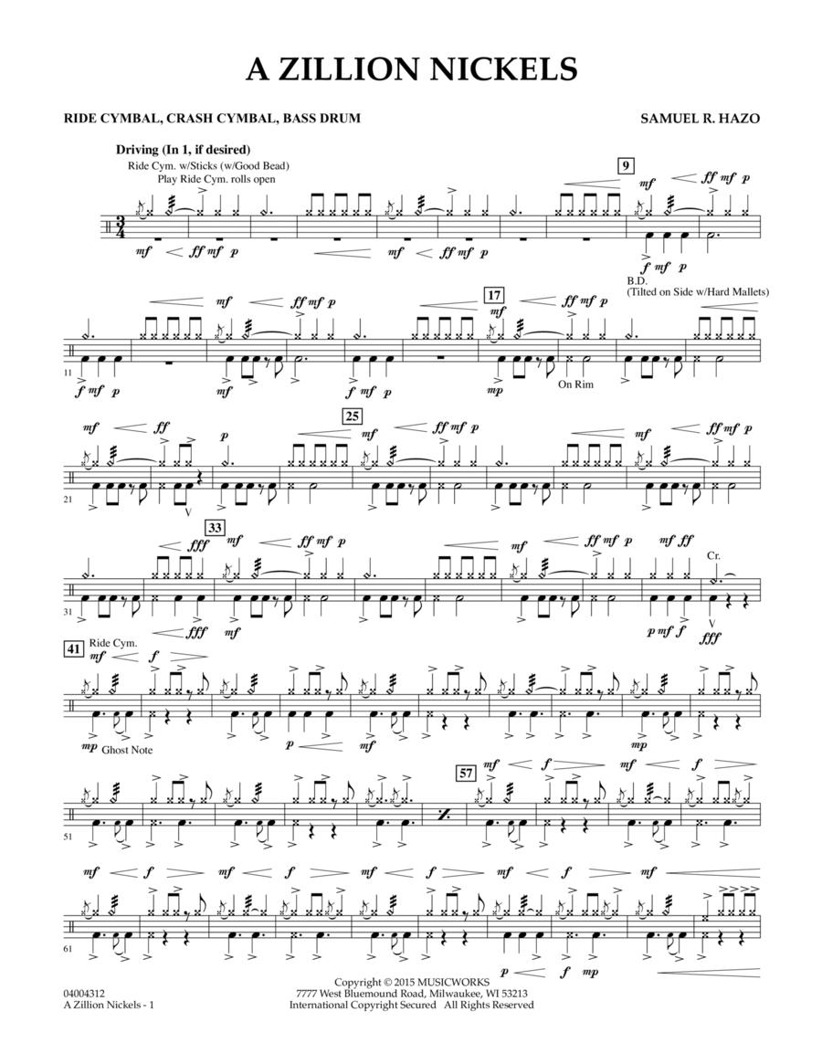 A Zillion Nickels - Ride Cym., Cr. Cym., Bass Drum