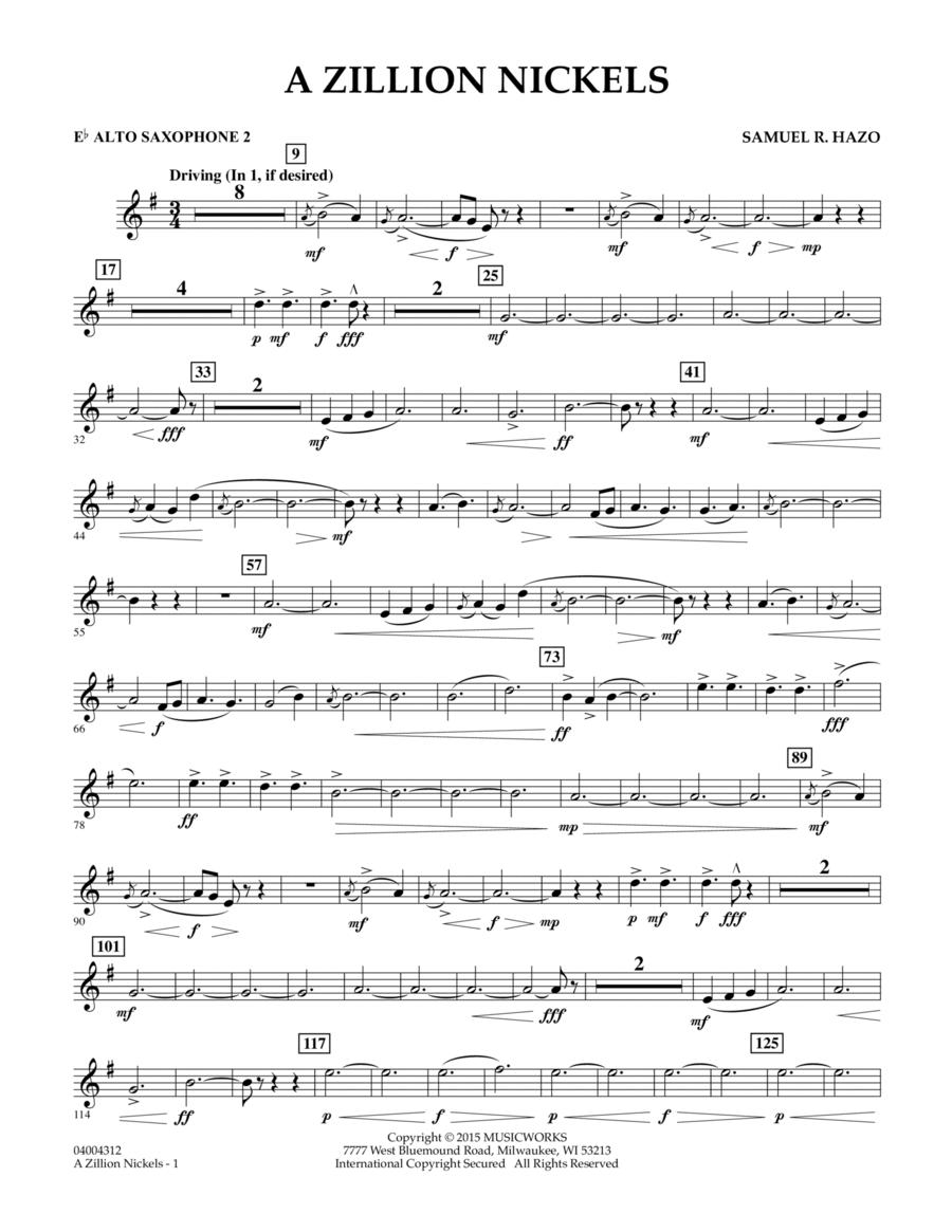 A Zillion Nickels - Eb Alto Saxophone 2