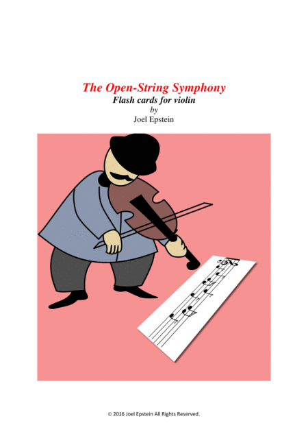 Music flash cards for beginning violin students