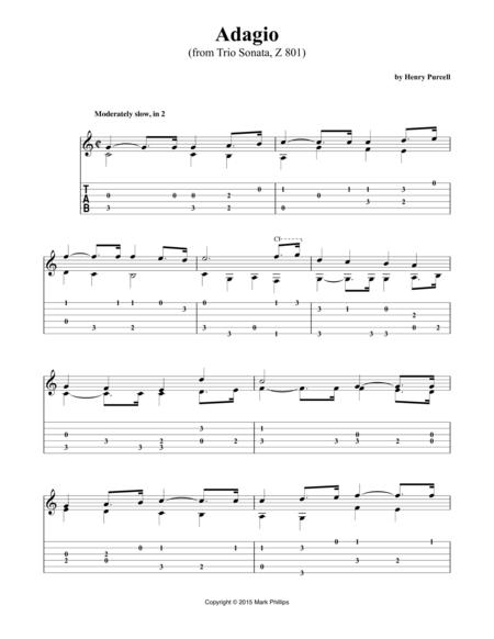 Adagio (from Trio Sonata, Z 801)