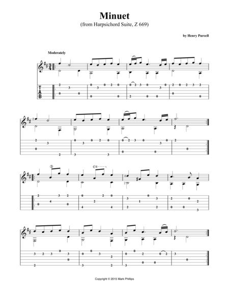 Minuet (from Harpsichord Suite, Z 669)