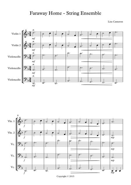 Faraway Home - String Quintet