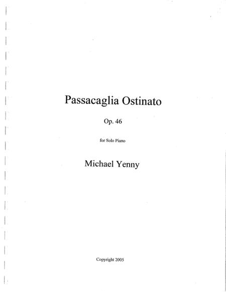 Passacaglia Ostinato, op. 46