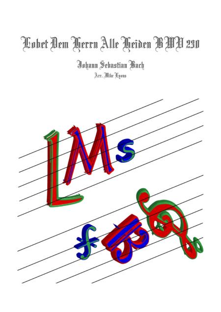 Lobet Den Herr'n Alle Heiden (Brass quintet)
