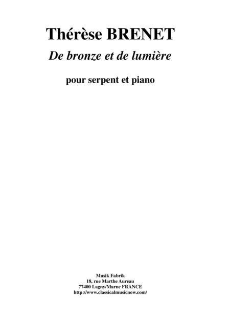 Thérèse Brenet  - De Bronze et De Lumière