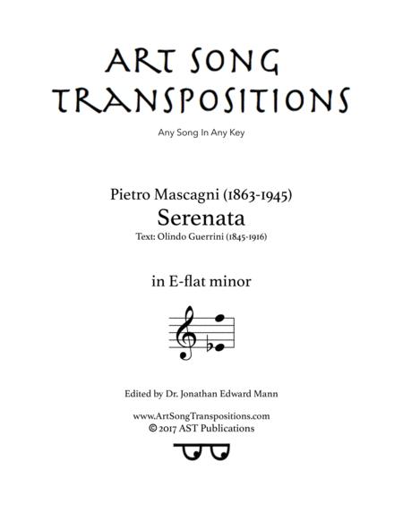 Serenata (E-flat minor)