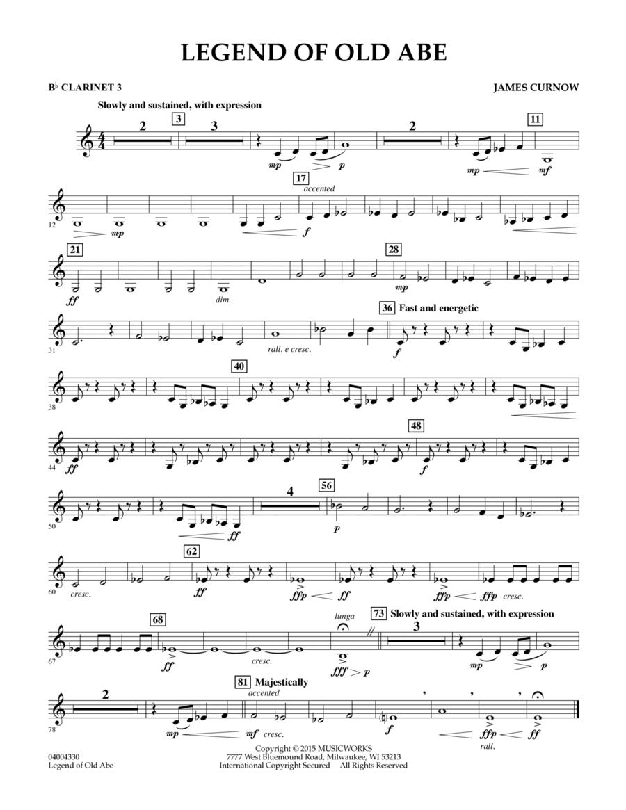 Legend of Old Abe - Bb Clarinet 3