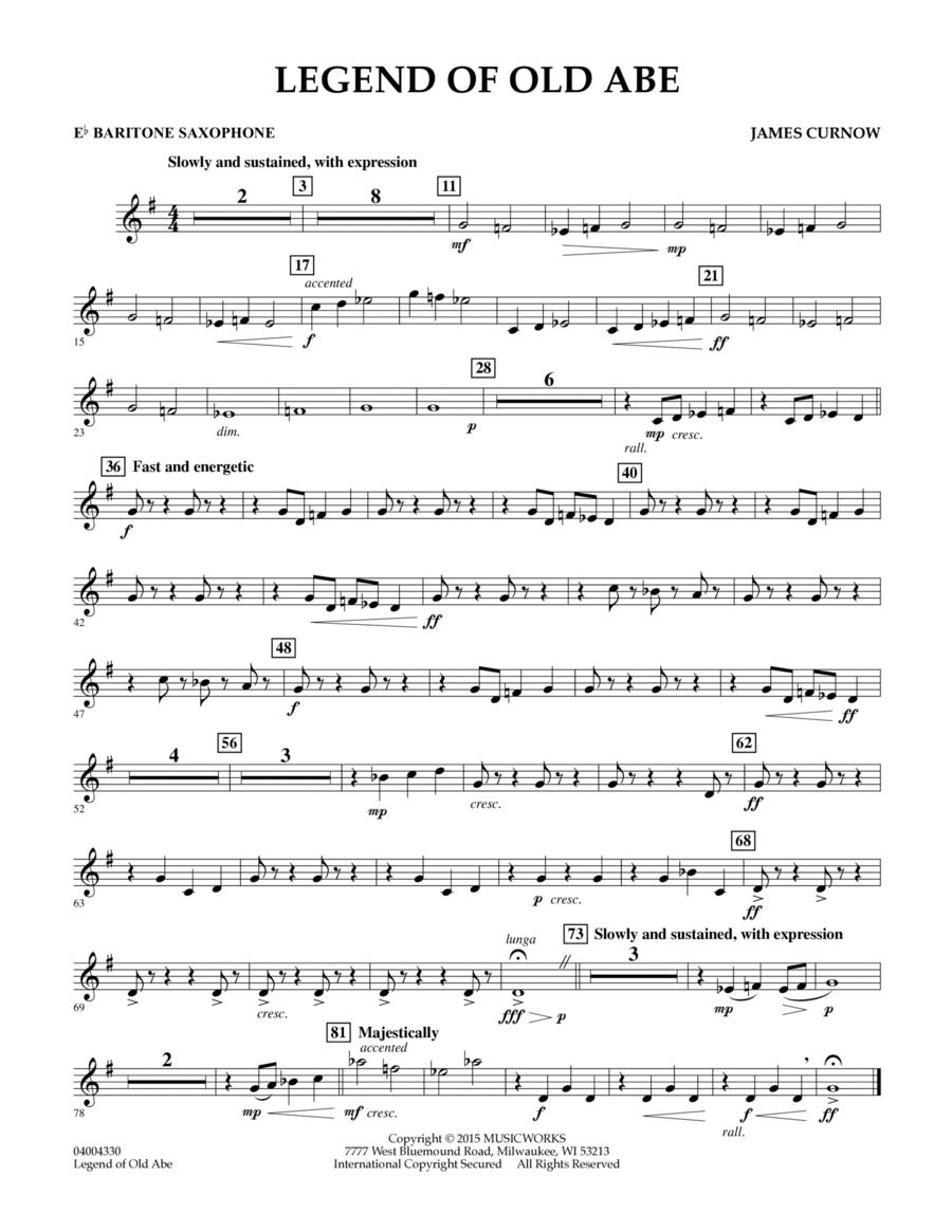 Legend of Old Abe - Eb Baritone Saxophone