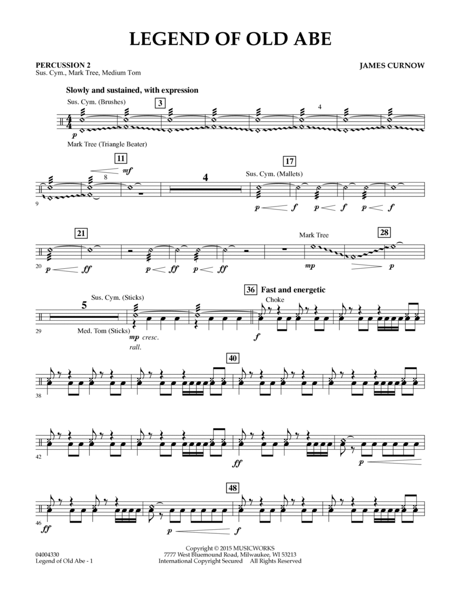 Legend of Old Abe - Percussion 2