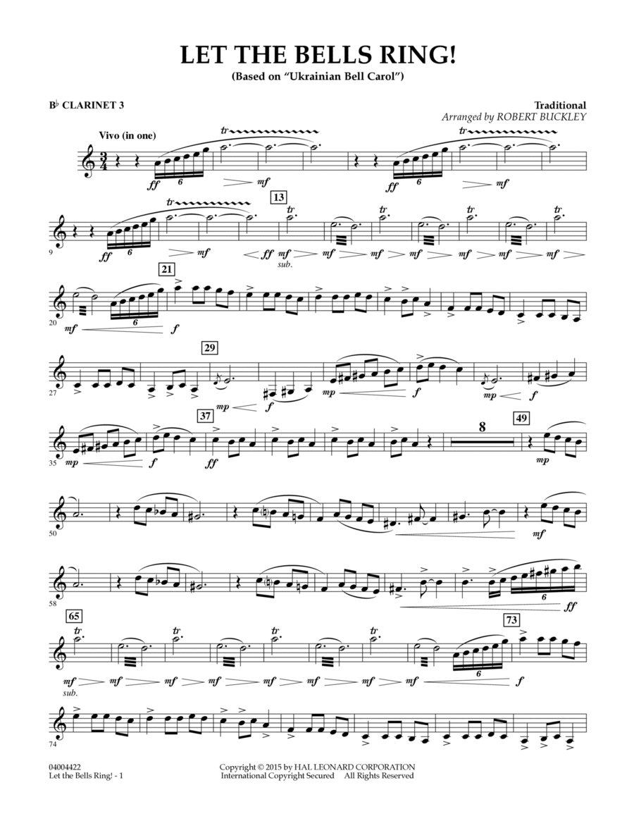 Let the Bells Ring! - Bb Clarinet 3