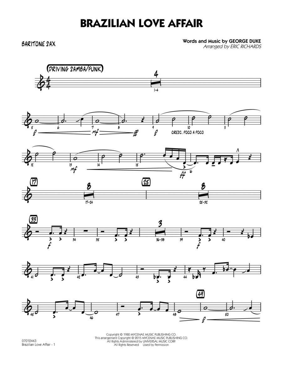 Brazilian Love Affair - Baritone Sax