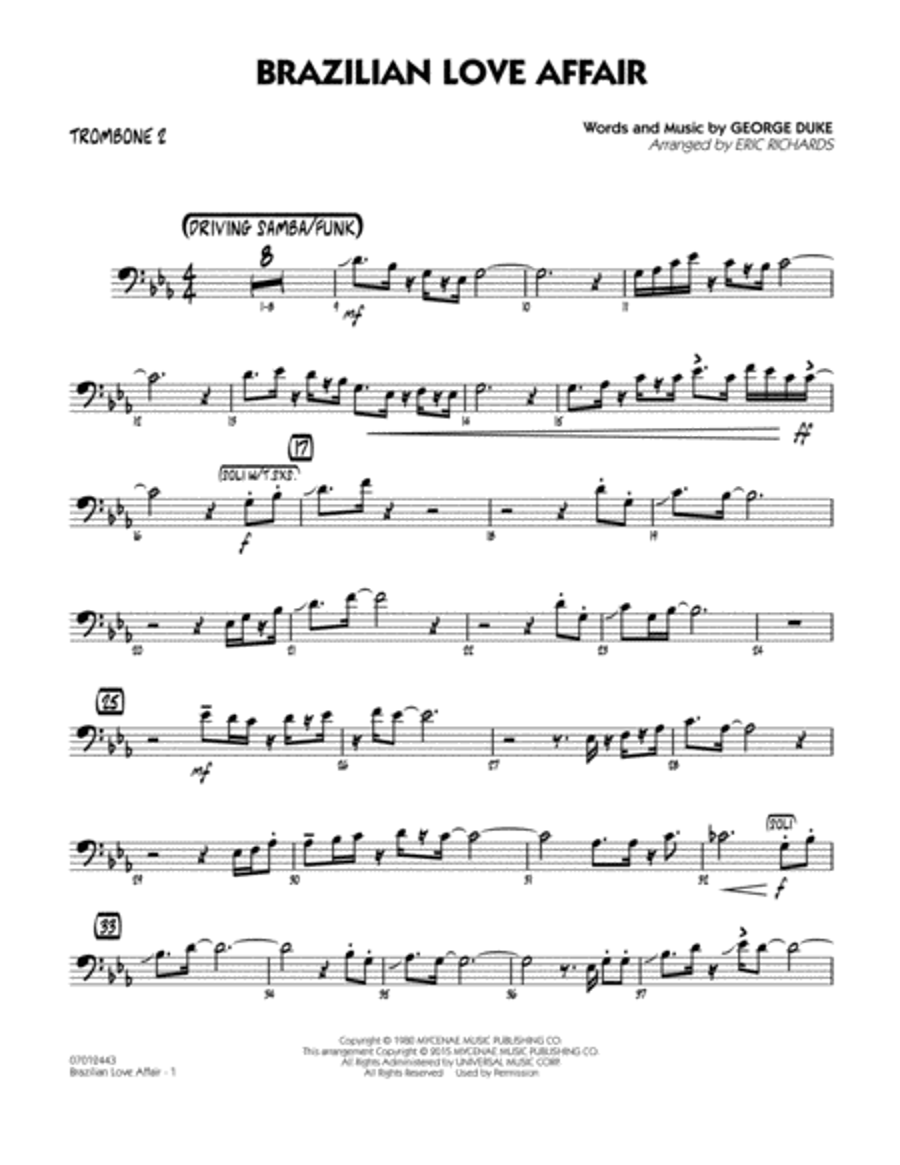 Brazilian Love Affair - Trombone 2