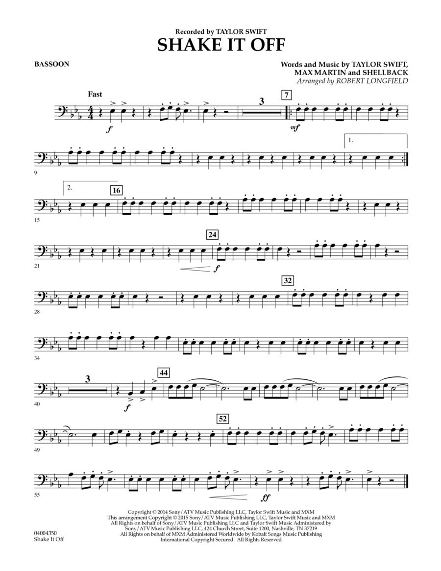 Shake It Off - Bassoon