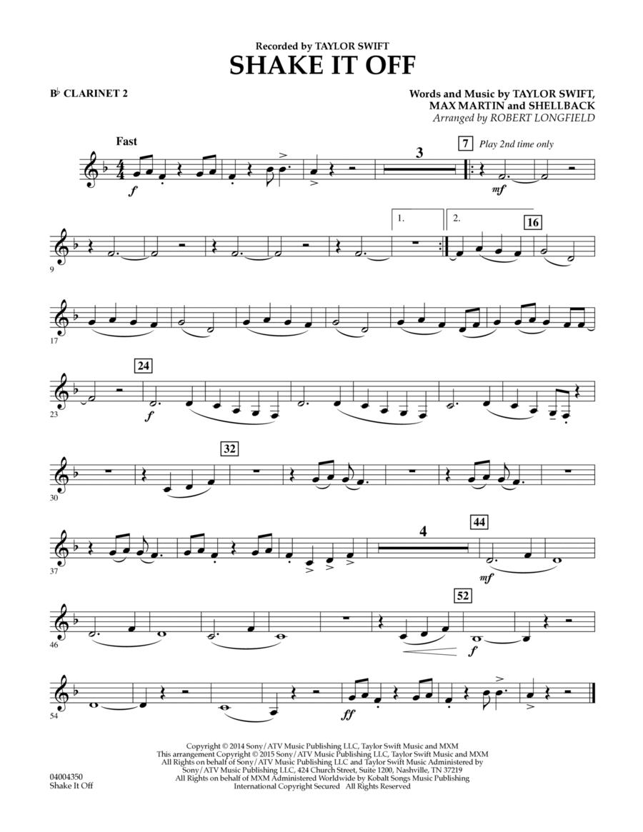 Shake It Off - Bb Clarinet 2