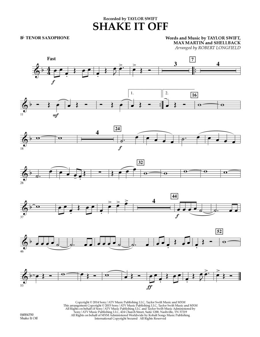 Shake It Off - Bb Tenor Saxophone