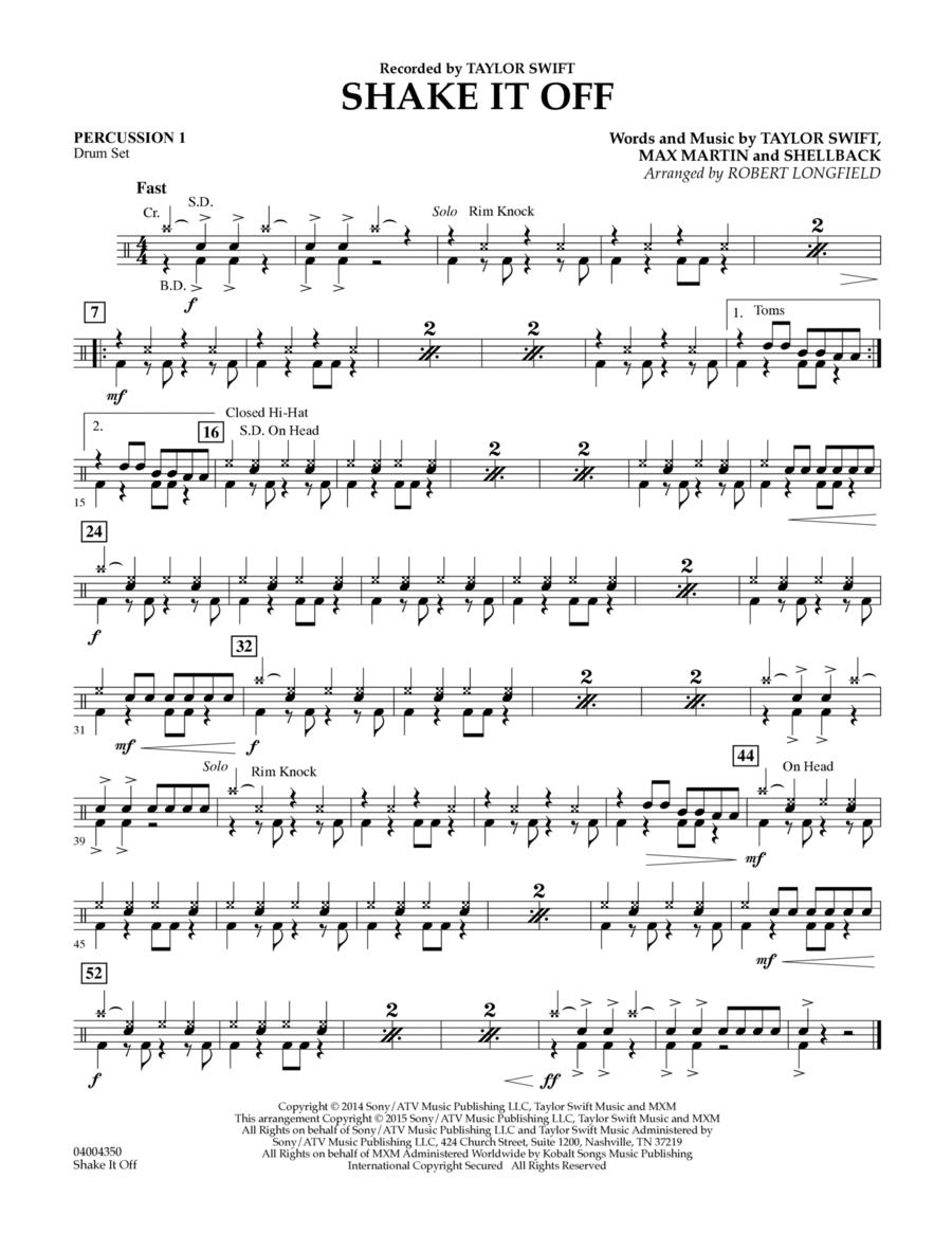 Shake It Off - Percussion 1