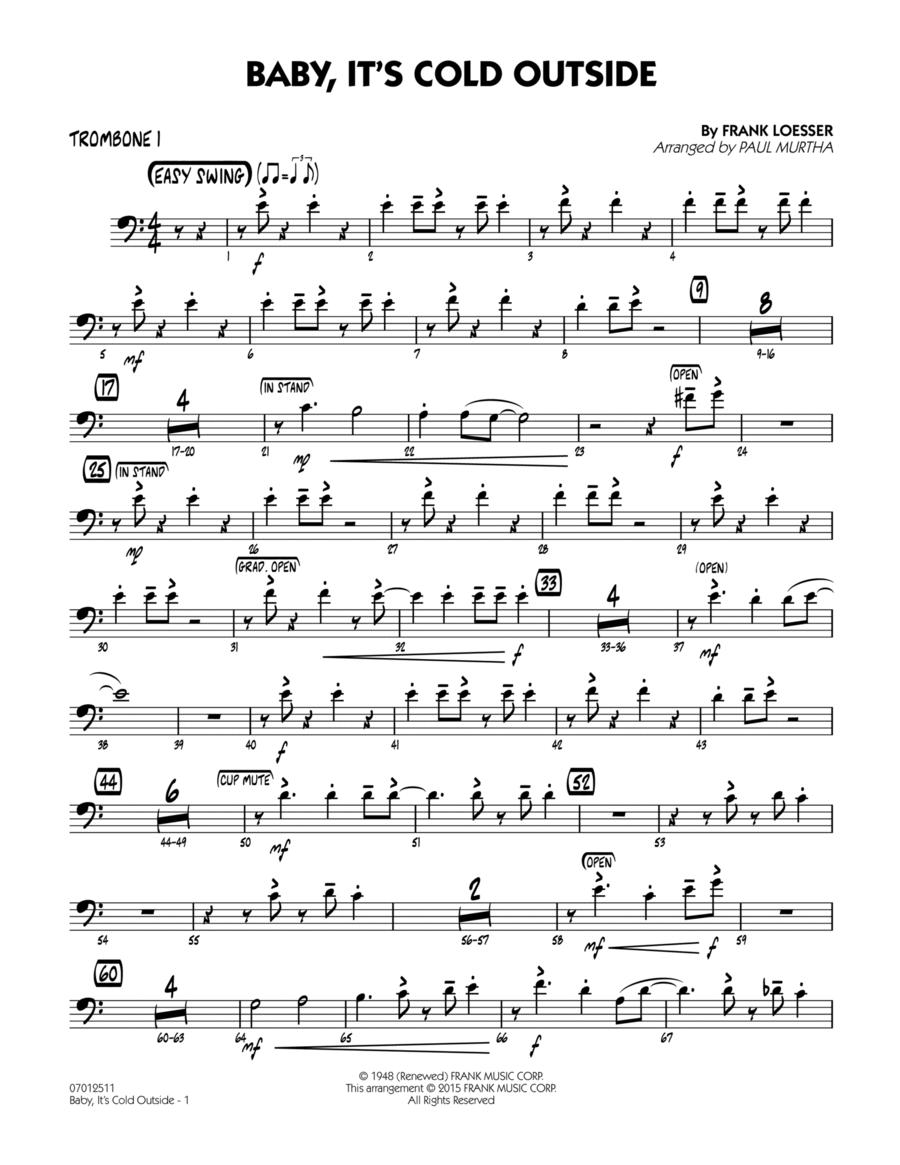 Baby, It's Cold Outside (Key: C) - Trombone 1