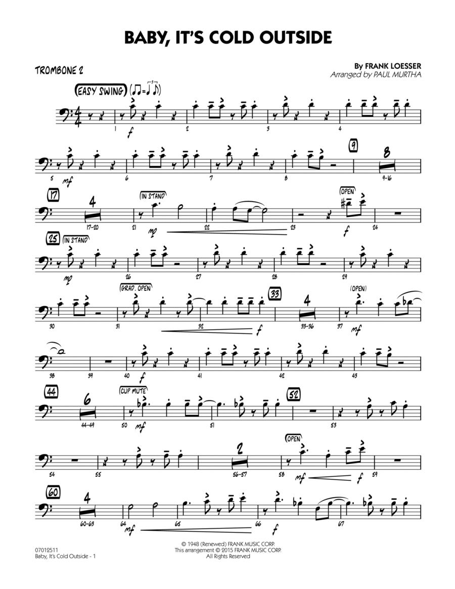 Baby, It's Cold Outside (Key: C) - Trombone 2