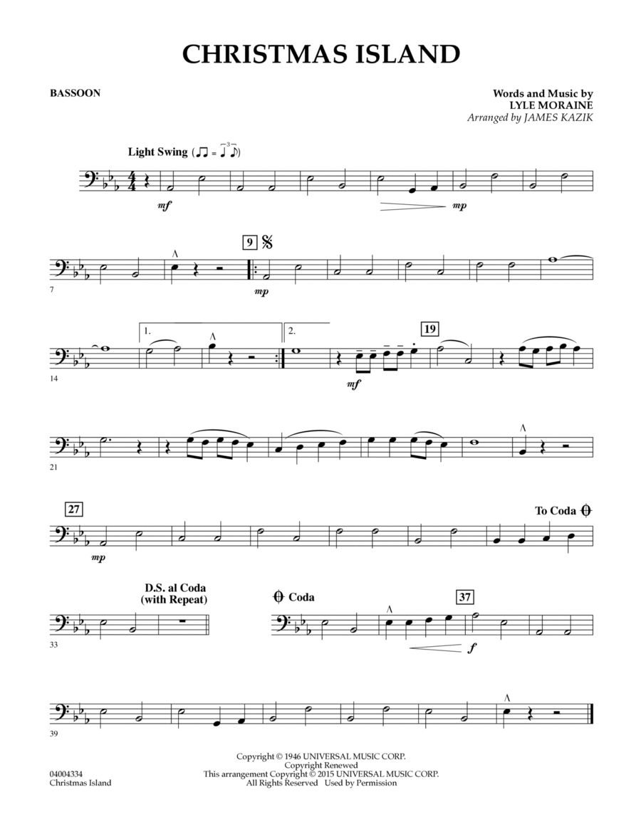 Christmas Island - Bassoon