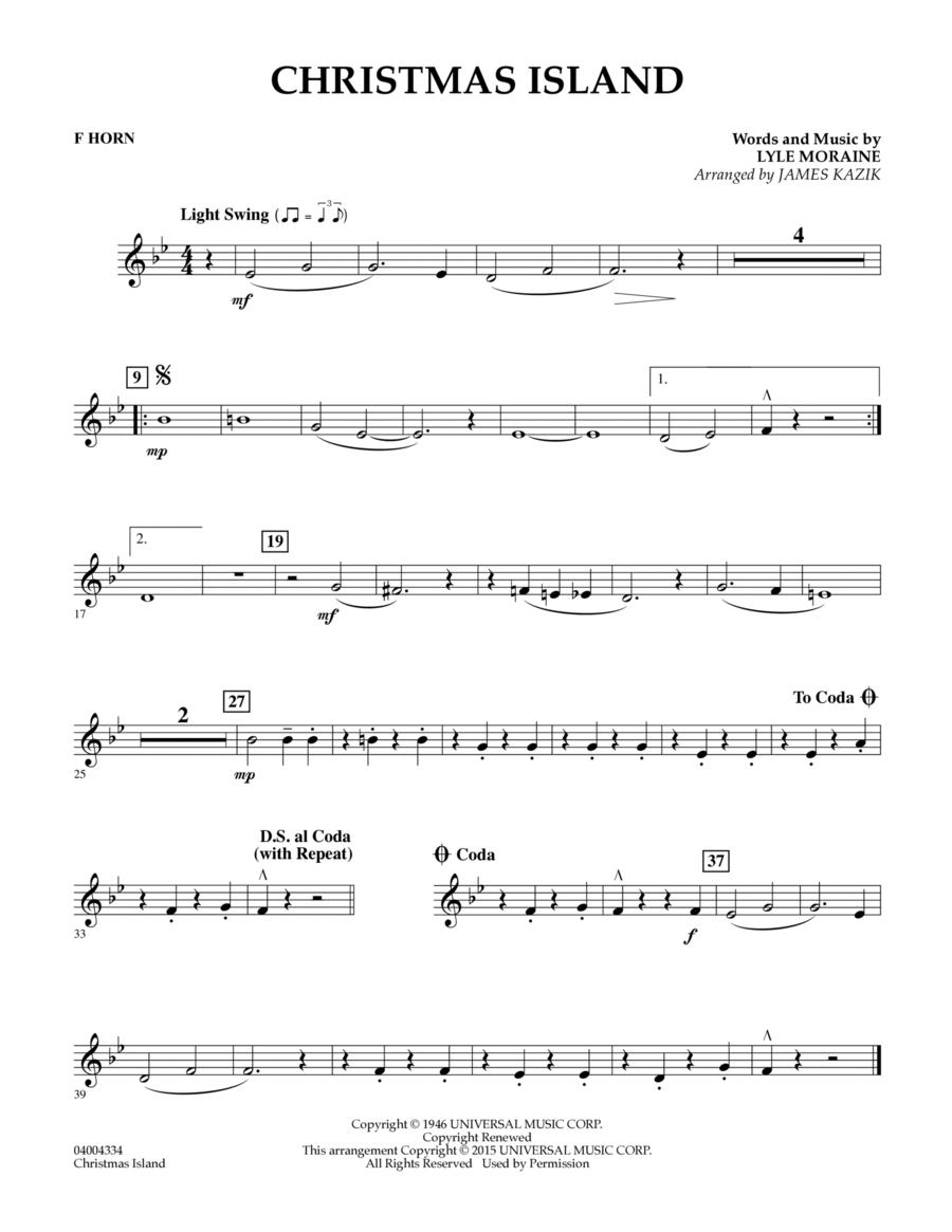 Christmas Island - F Horn