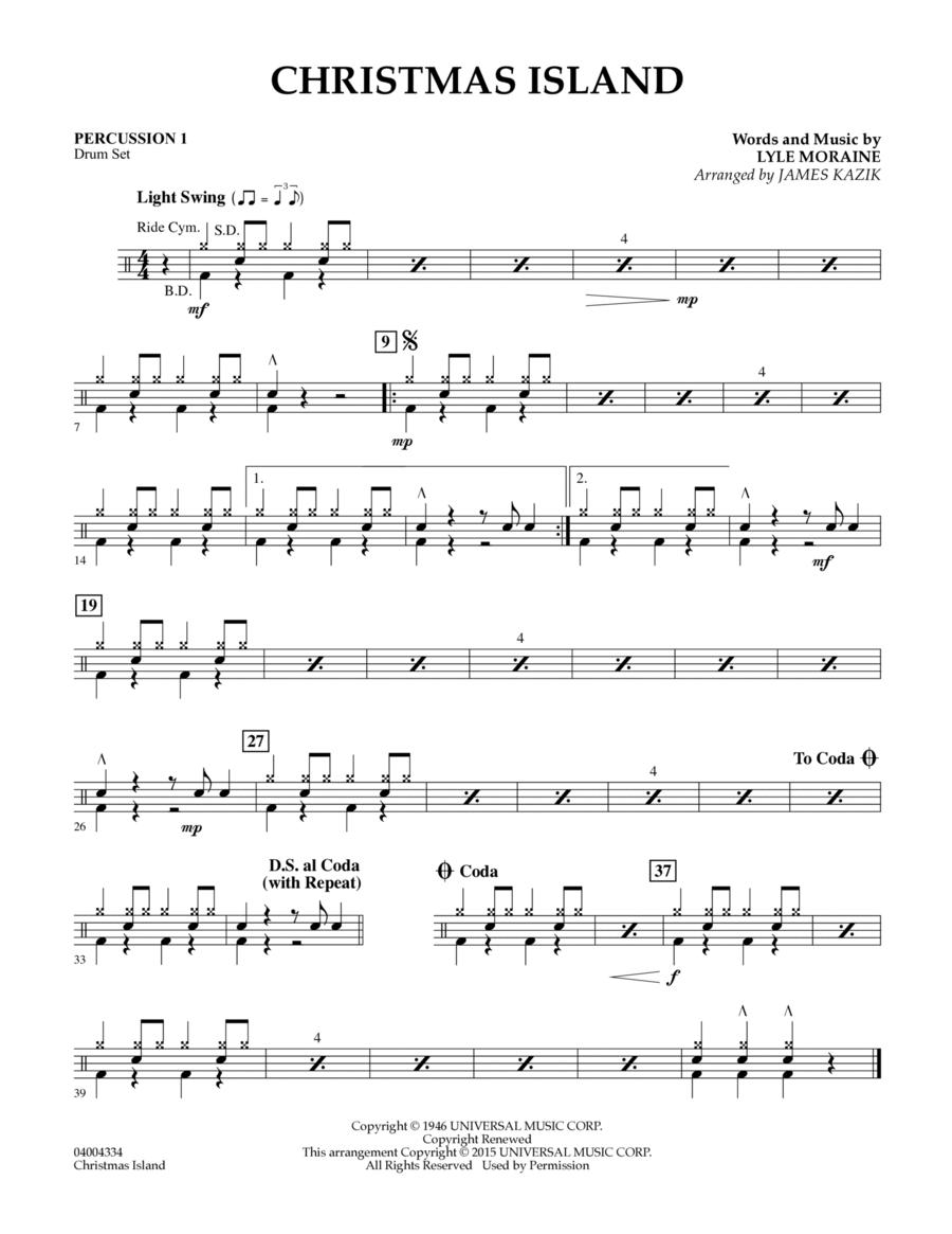 Christmas Island - Percussion 1