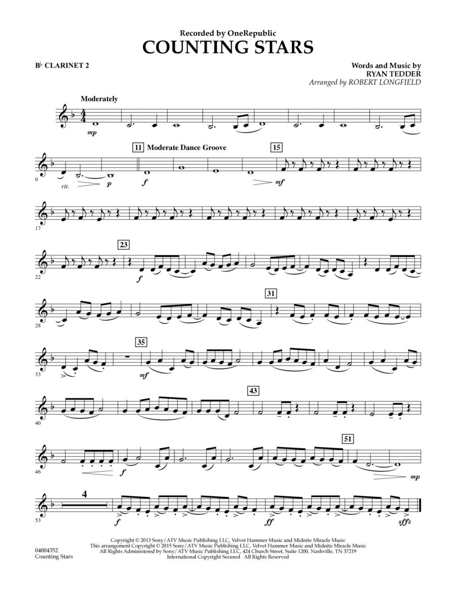 Counting Stars - Bb Clarinet 2