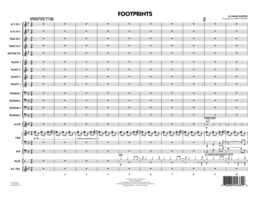 Footprints - Conductor Score (Full Score)