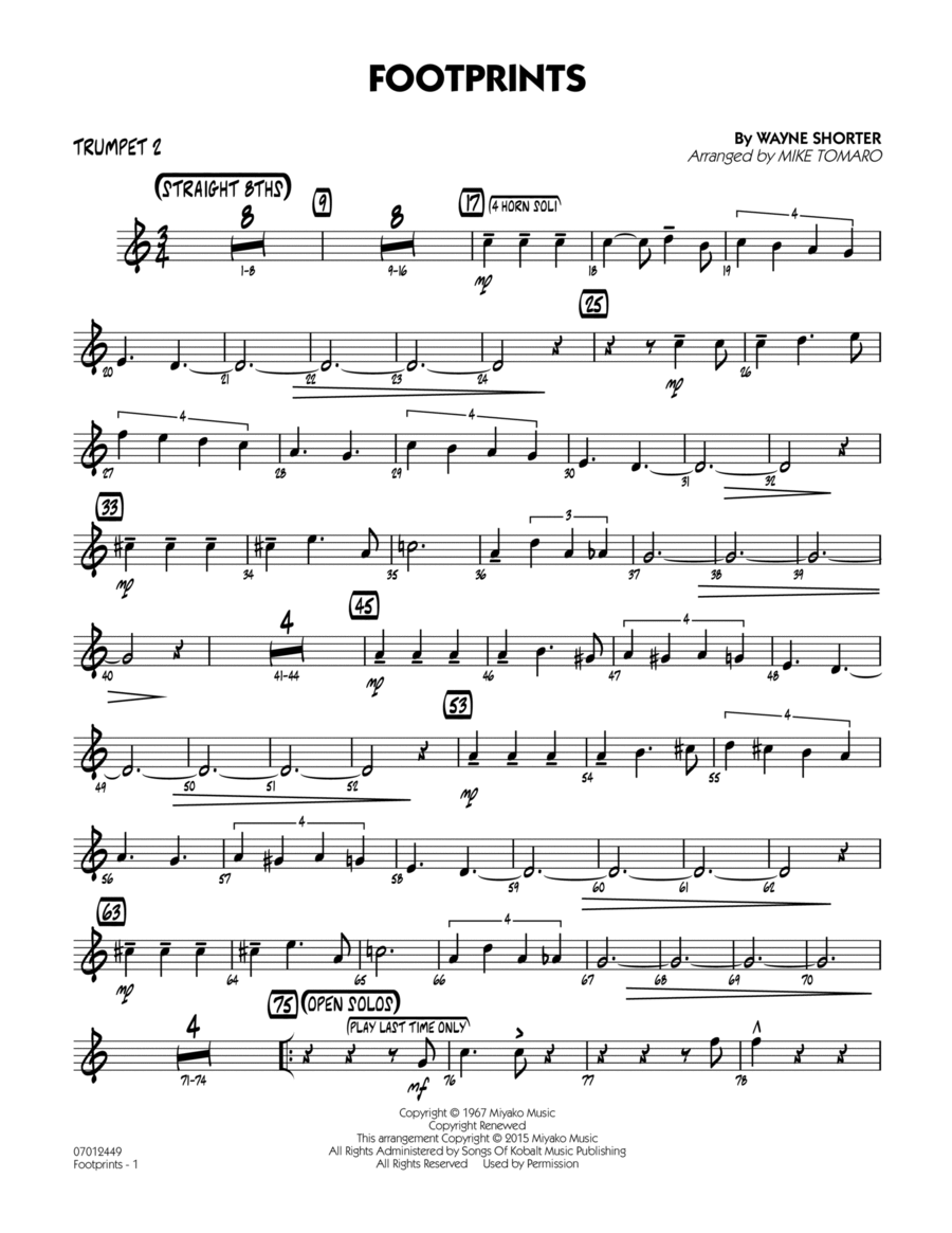 Footprints - Trumpet 2