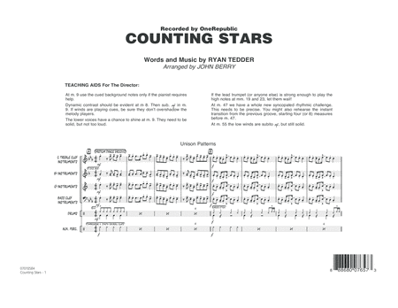 Counting Stars - Conductor Score (Full Score)