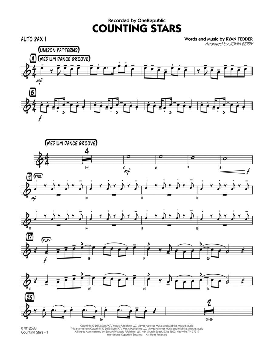 Counting Stars - Alto Sax 1
