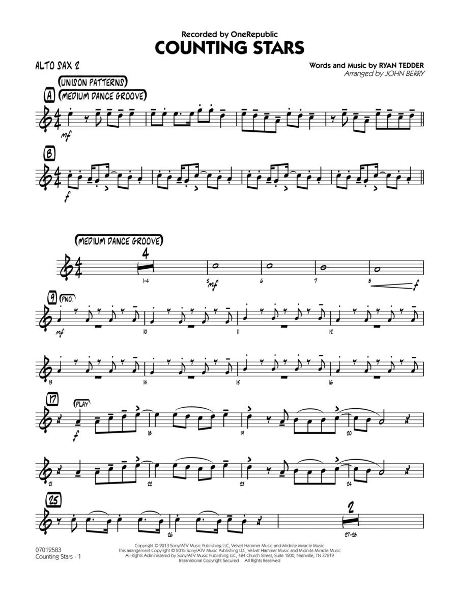 Counting Stars - Alto Sax 2