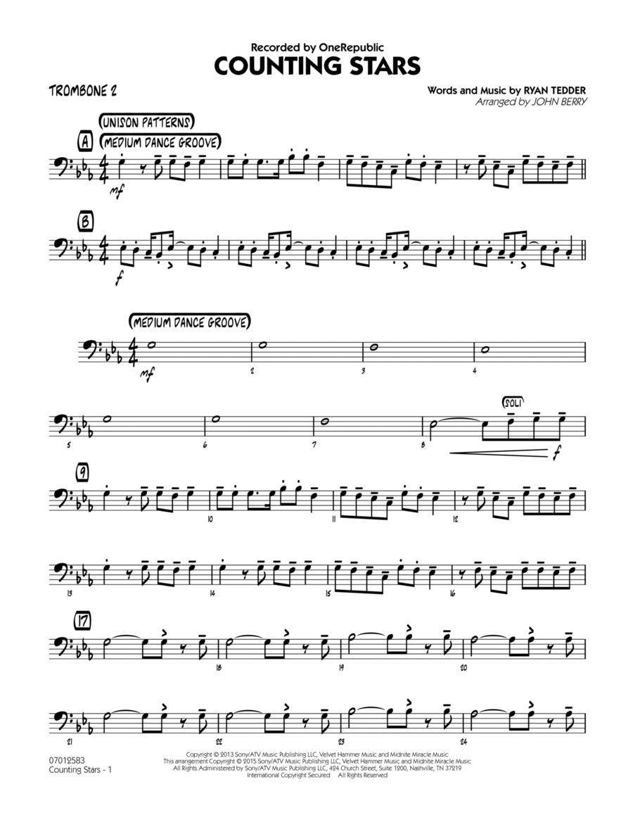 Counting Stars - Trombone 2