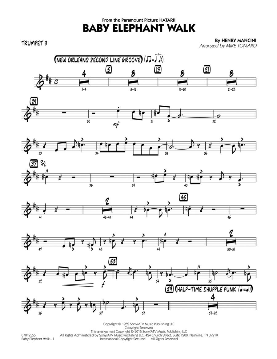 Baby Elephant Walk - Trumpet 3