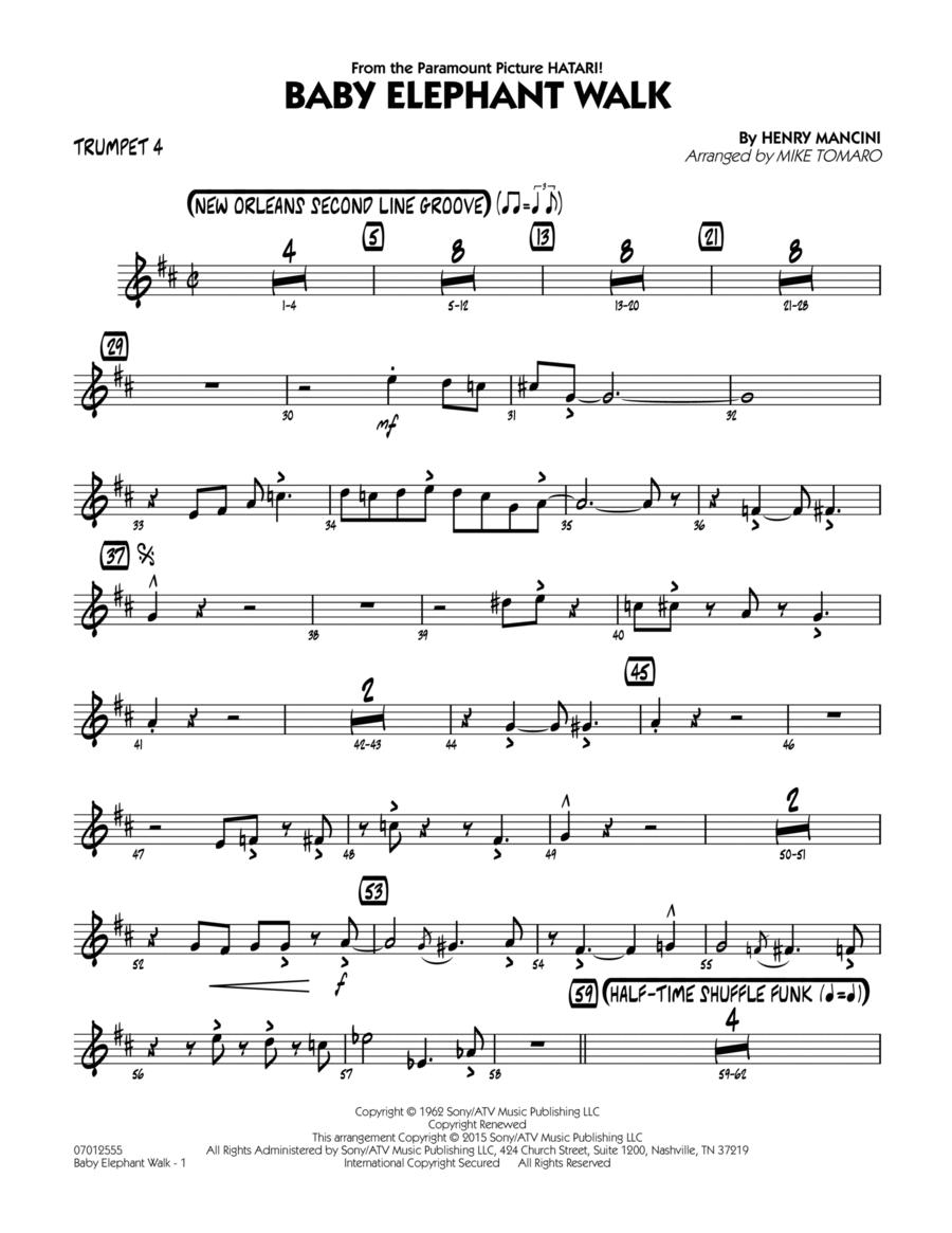 Baby Elephant Walk - Trumpet 4