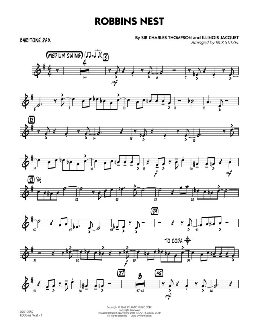 Robbins Nest - Baritone Sax
