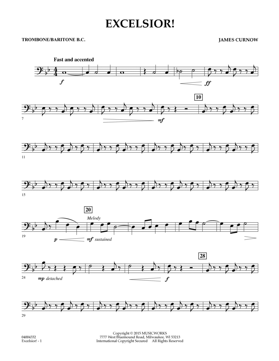 Excelsior! - Trombone/Baritone B.C.