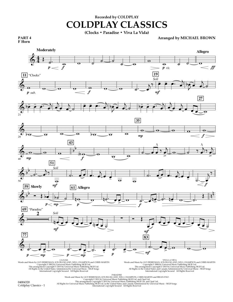 Coldplay Classics - Pt.4 - F Horn