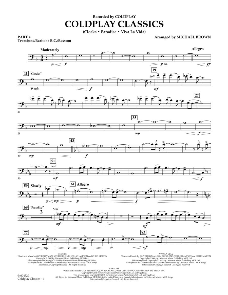 Coldplay Classics - Pt.4 - Trombone/Bar. B.C./Bsn.