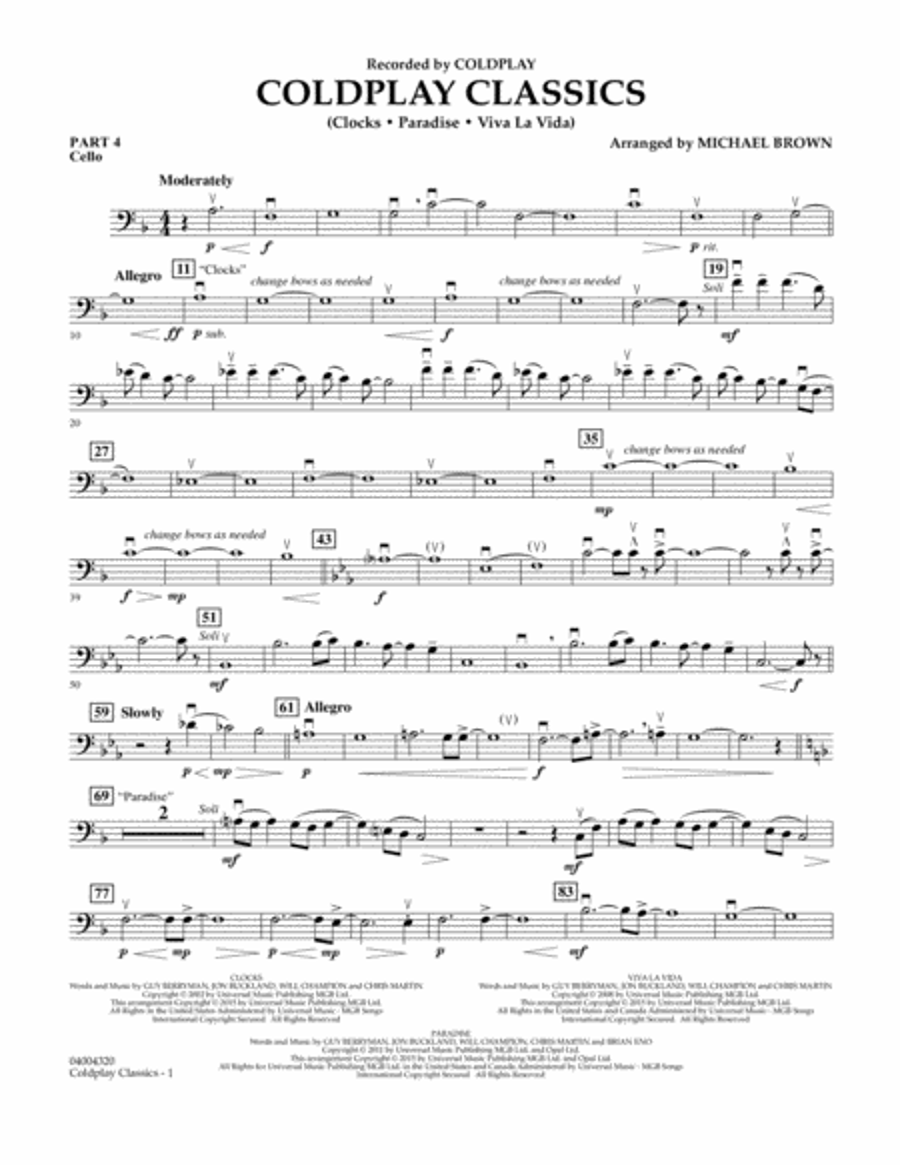 Coldplay Classics - Pt.4 - Cello