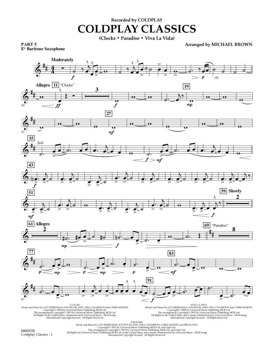 Coldplay Classics - Pt.5 - Eb Baritone Saxophone