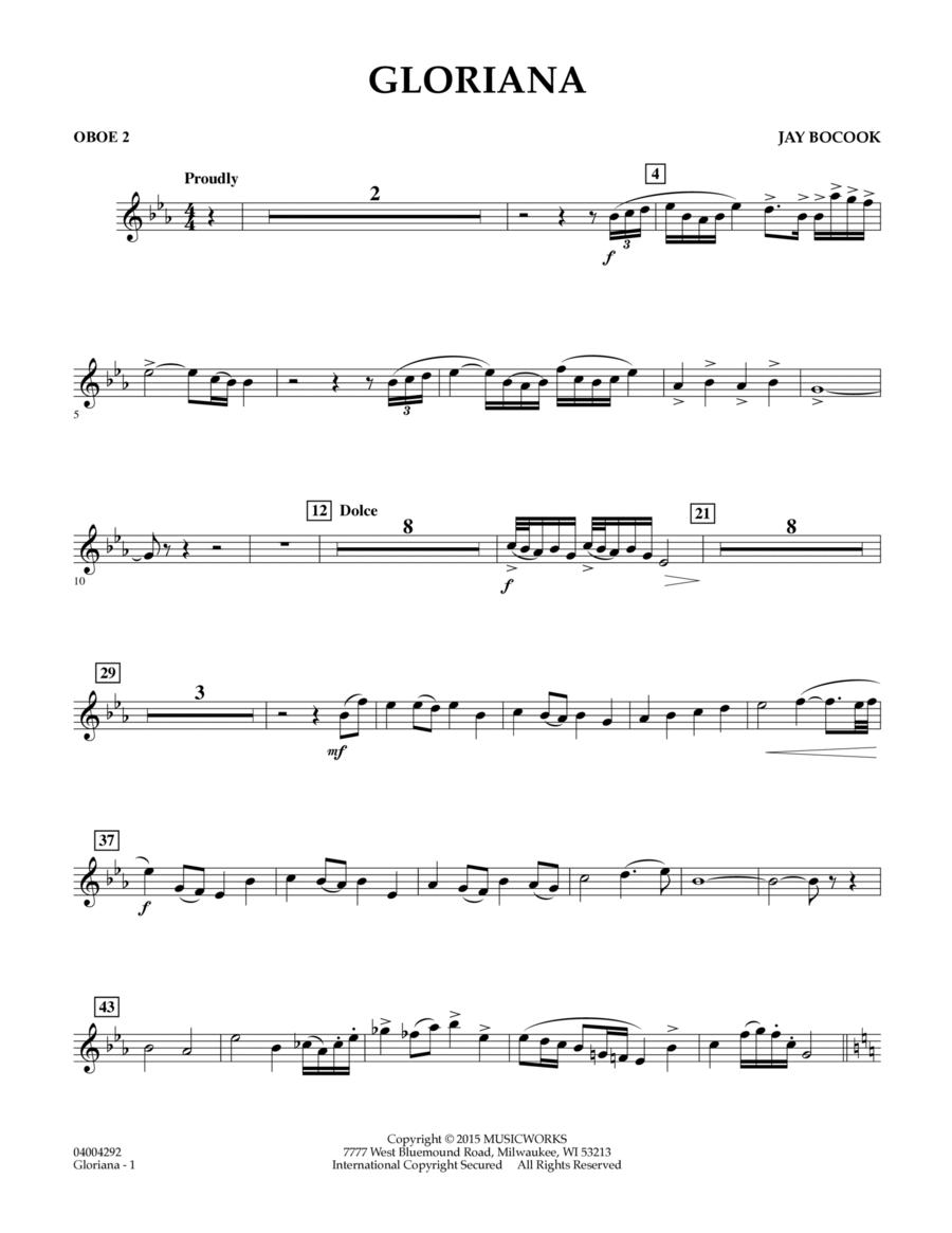 Gloriana - Oboe 2