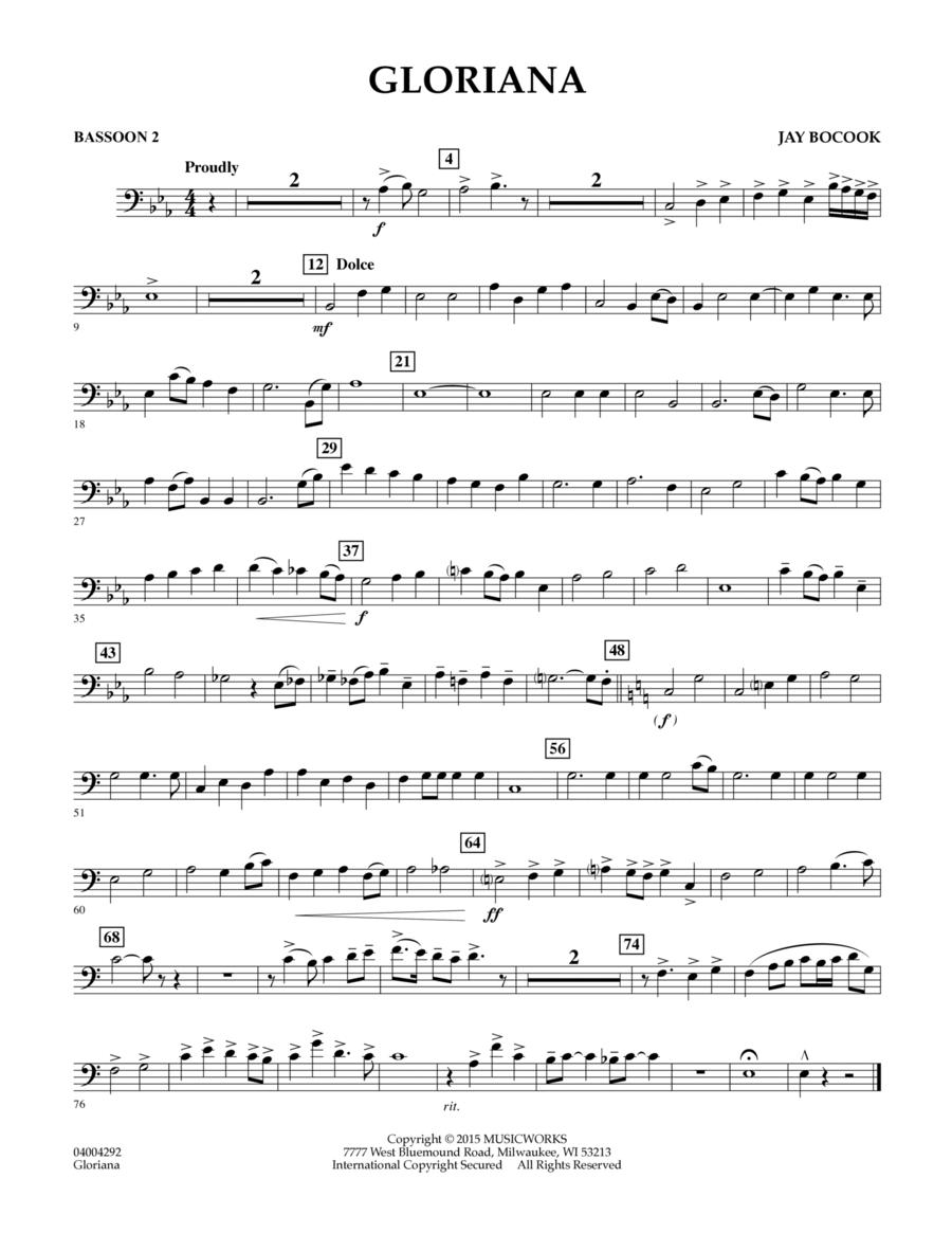 Gloriana - Bassoon 2